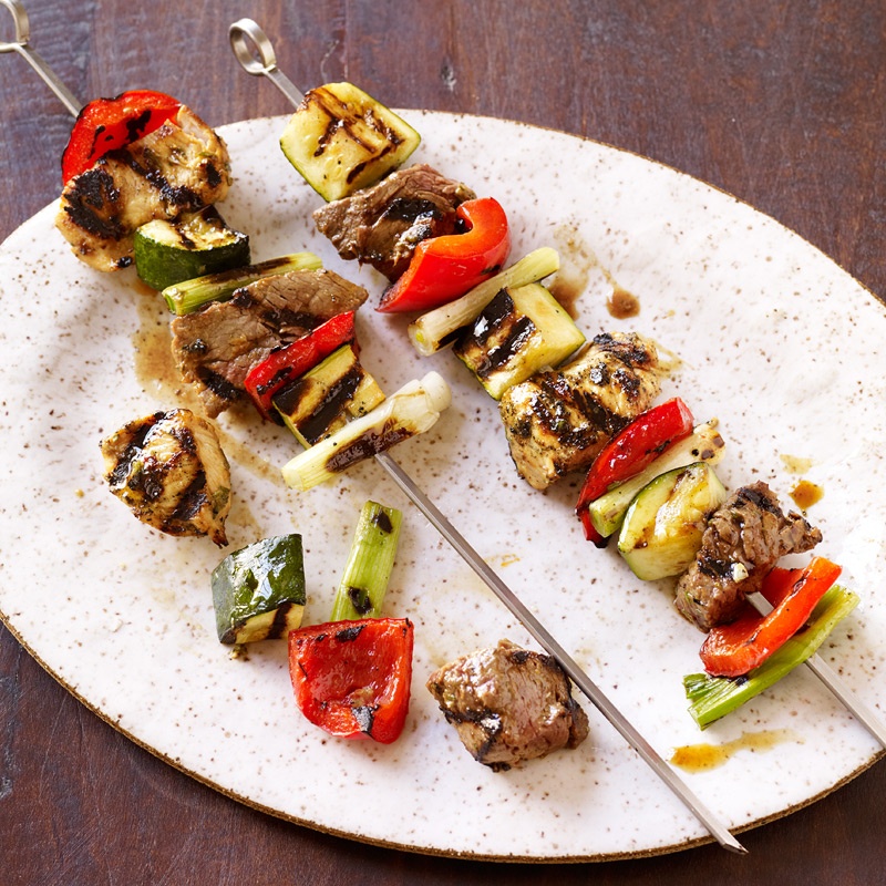 Photo of Chicken and steak kebabs by WW