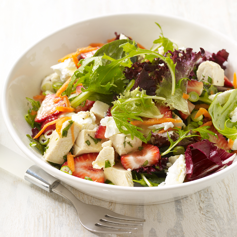 Photo of Chicken, strawberry and goat cheese salad with tarragon vinaigrette by WW