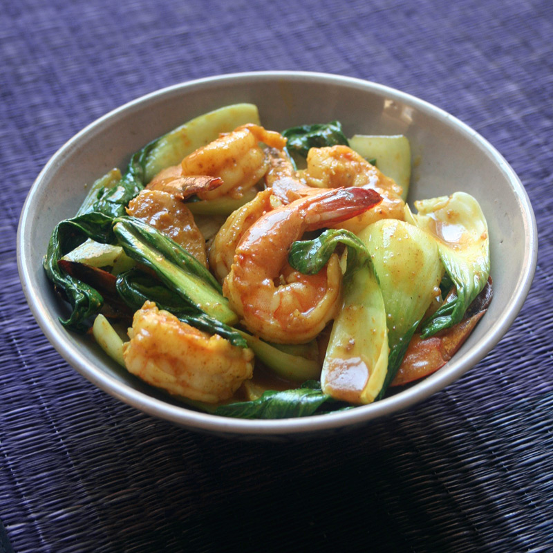 Photo of Coconut curried shrimp with bok choy by WW