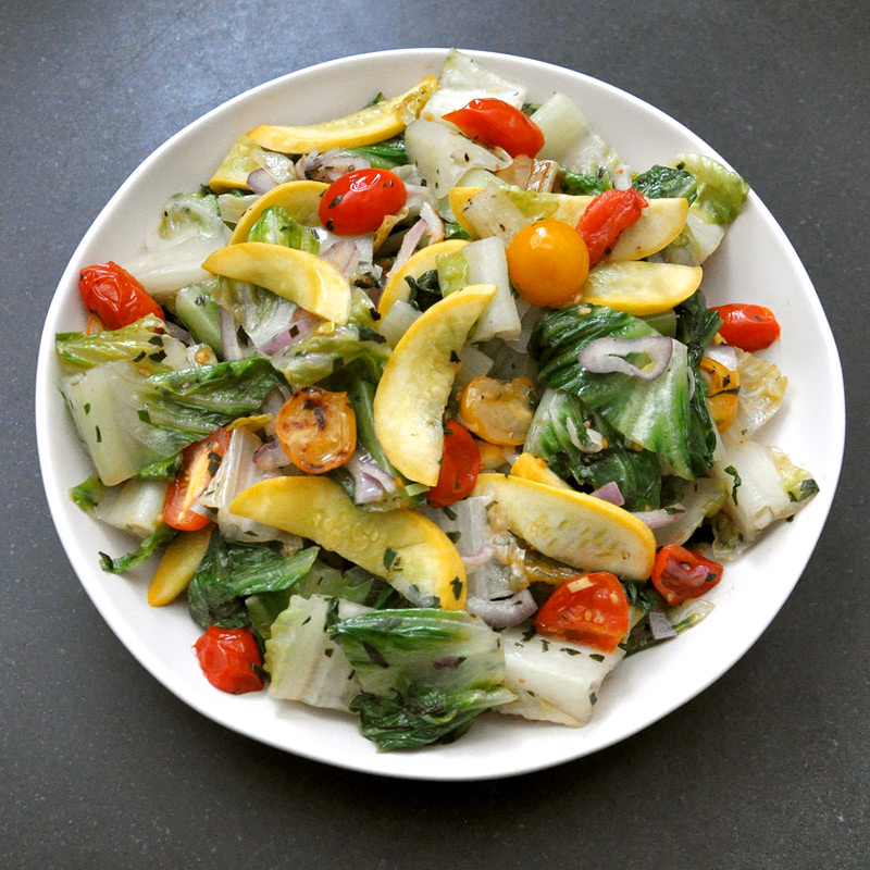 Photo of Stir-fried lettuce with garlic, tomato and squash by WW