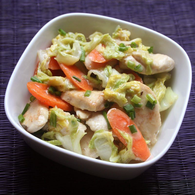 Photo of Mustard chicken with creamy cabbage by WW
