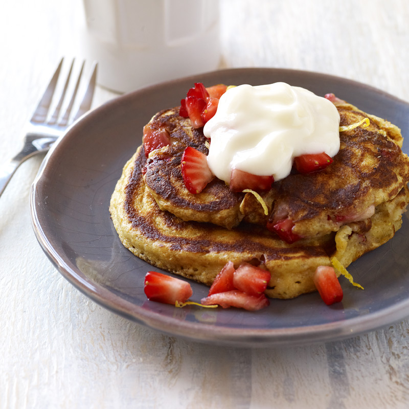 Photo of Whole wheat strawberry pancakes by WW