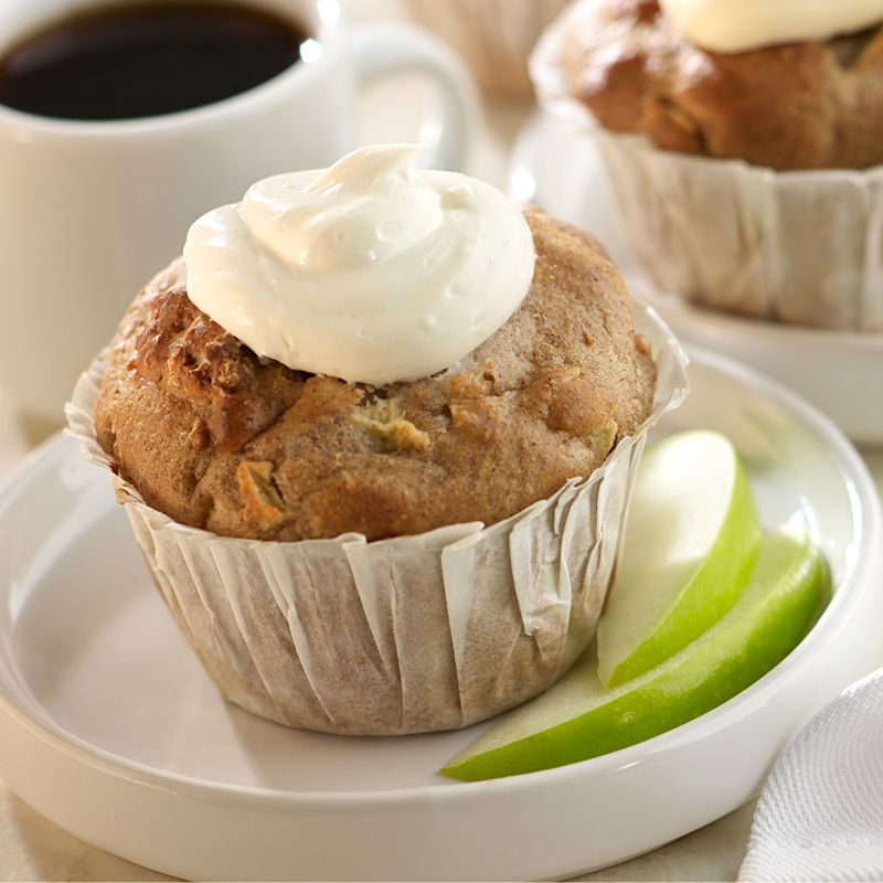 Photo of Apple muffins with cream cheese frosting by WW