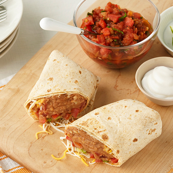 Refried Bean Burrito Recipes Ww Usa