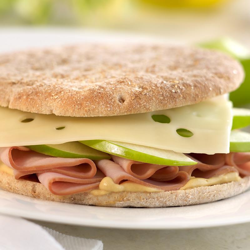Photo of Ham and Swiss sandwich stacks by WW