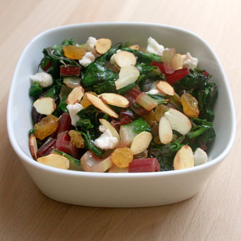 Photo of Swiss Chard with Raisins, Almonds and Feta by WW
