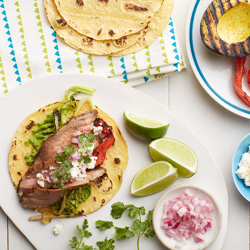 Photo of Grilled avocado and flank steak soft tacos by WW