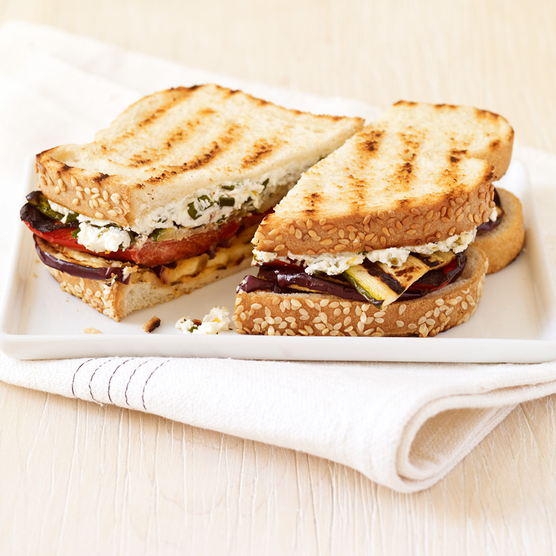 Photo of Grilled veggie and herbed-goat cheese paninis by WW