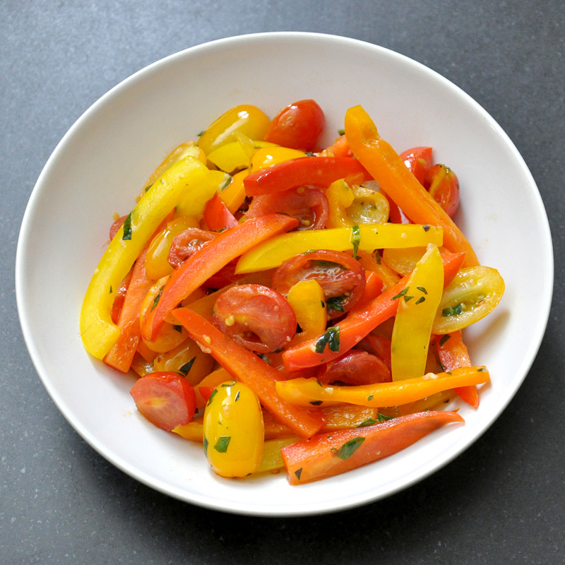 Photo of Bell Pepper and Tomato Pesto Stir-Fry by WW