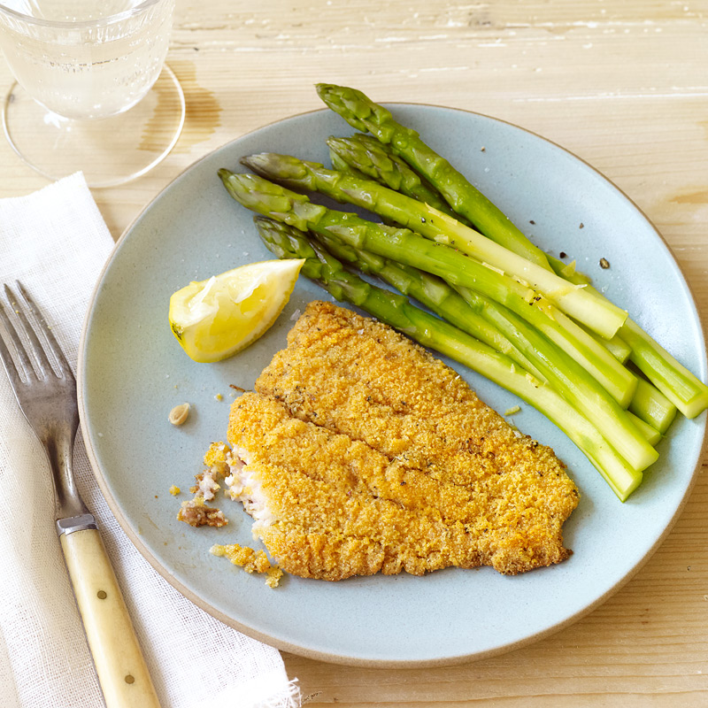 Oven fried catfish with flour for Cornmeal fried fish