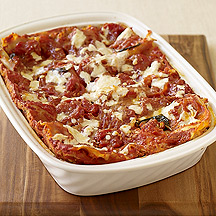 Photo of Lasagna with homemade sauce by WW