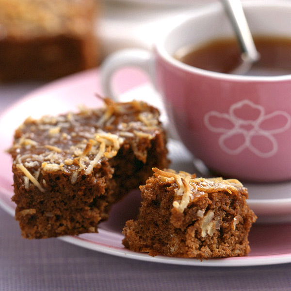 ... : Weight Watchers Recipe - Nut Brownies with Caramel Coconut Topping