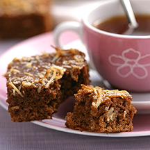 Photo of Nut brownies with caramel-coconut topping by WW