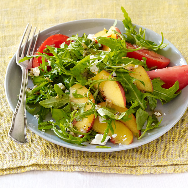 peach tomato and basil salad recipe tomato prosciutto peach basil and ...