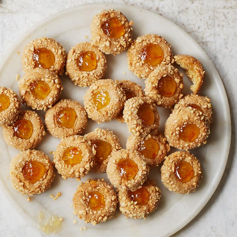 Marcona Almond And Orange Thumbprint Cookies