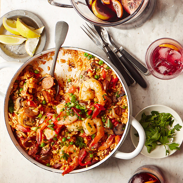 Photo of Shrimp and chicken chorizo paella by WW