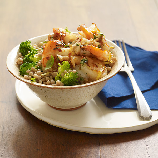 ... Watchers Recipe - Lemon Garlic Shrimp with Couscous and Broccoli