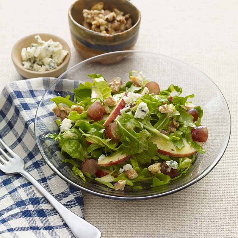 Photo of Apple, grape, and walnut salad with blue cheese by WW
