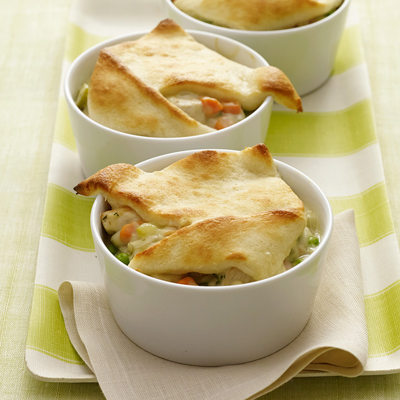 Photo of Individual creamy chicken pot pies by WW