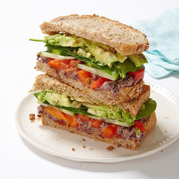 ... Weight Watchers Recipe - Veggie Sandwich with Lemony Black Bean Spread