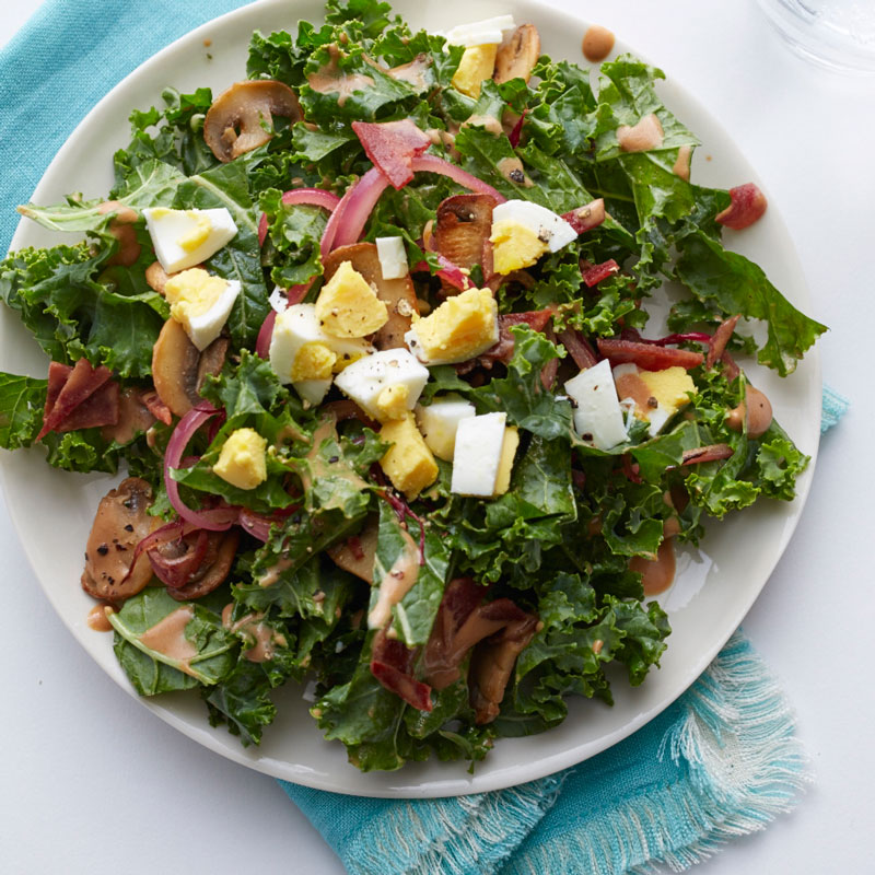 Photo of Kale salad with warm bacon dressing by WW
