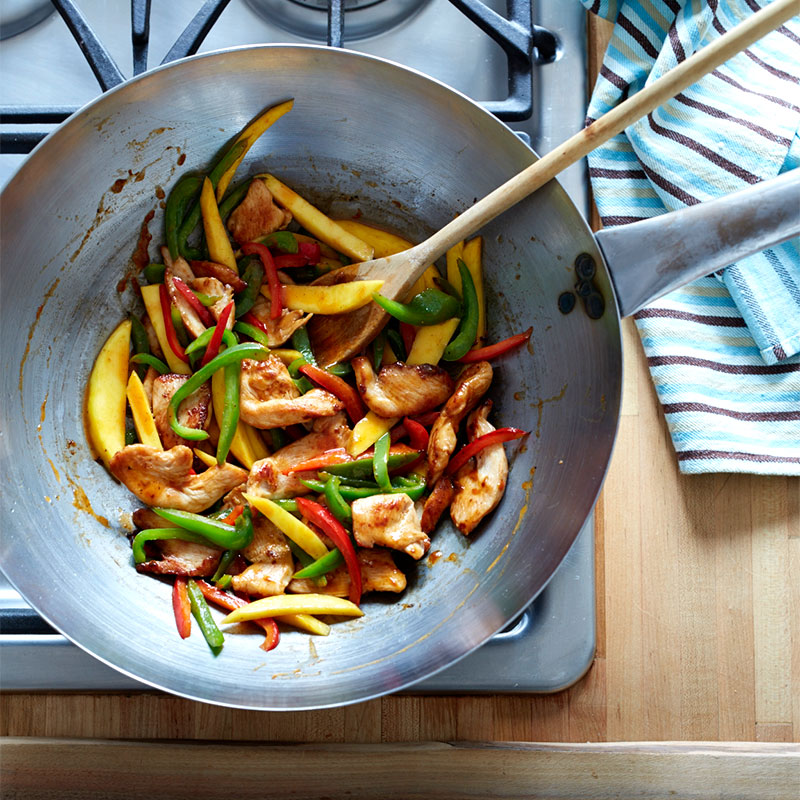 Photo of Stir-fried chili mango chicken with peppers by WW