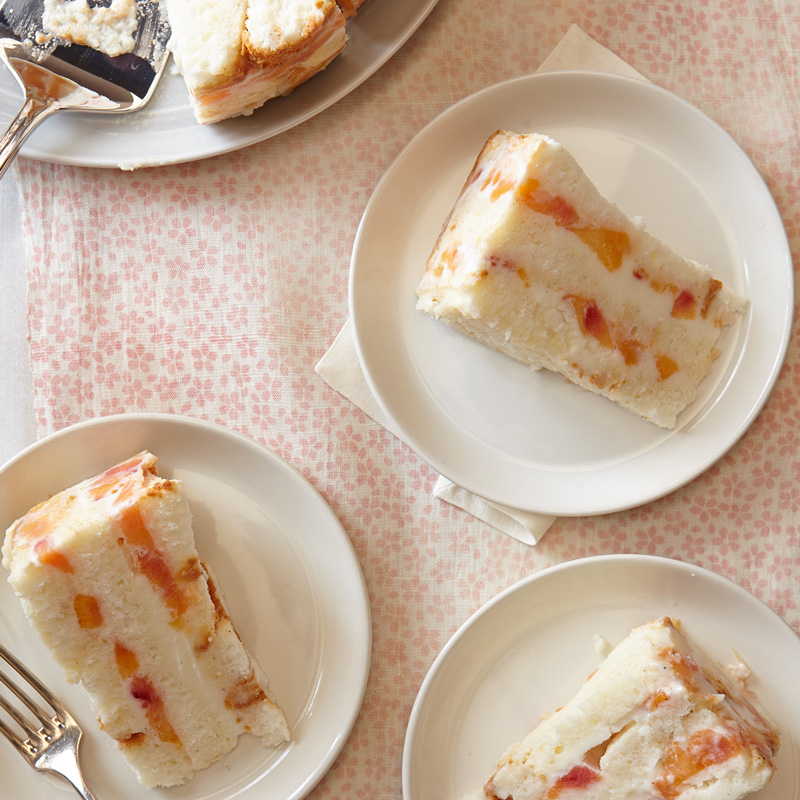 Photo of Frozen peaches and cream cake by WW