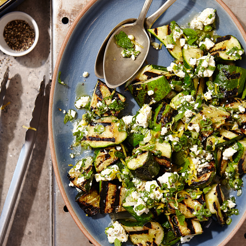 Photo of Grilled zucchini with lemon-herb feta by WW