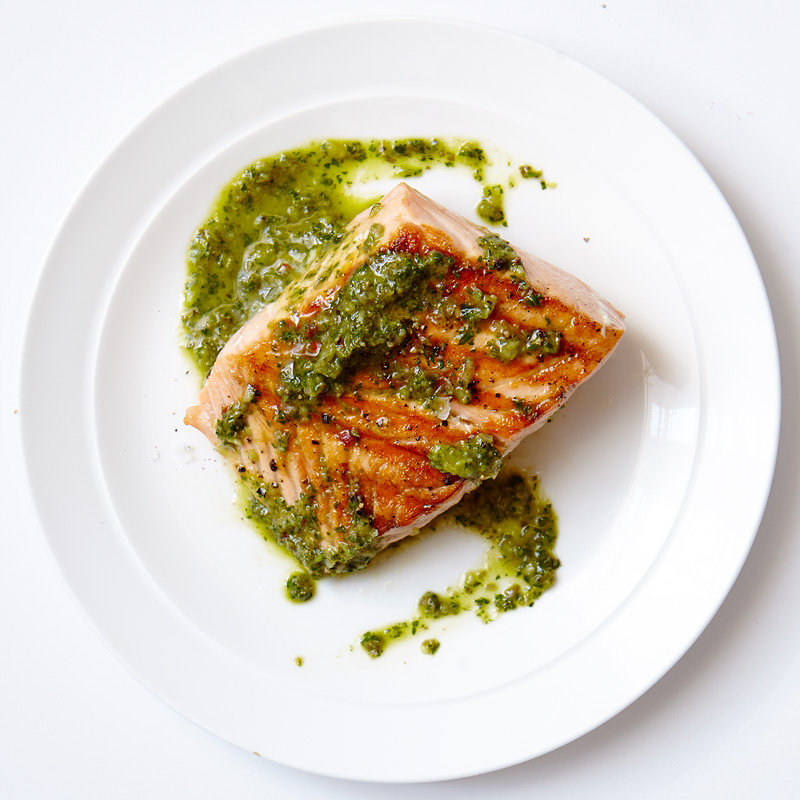 Photo of Grilled salmon with caper chimichurri by WW