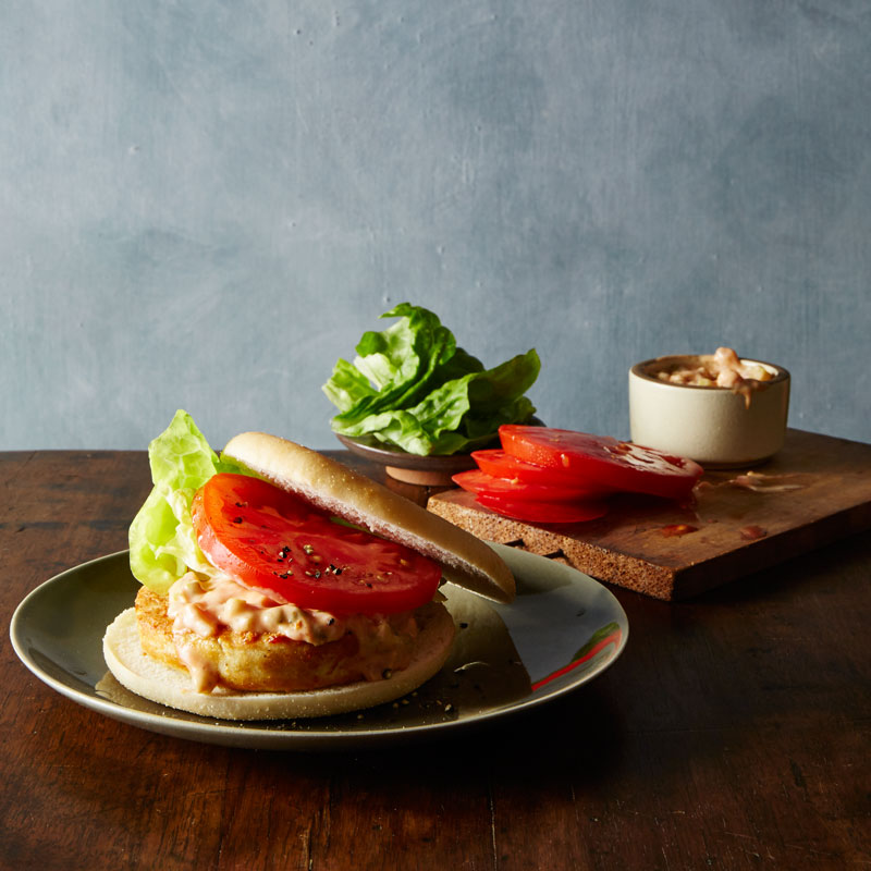 Photo of All-American chicken burger with secret spicy sauce by WW
