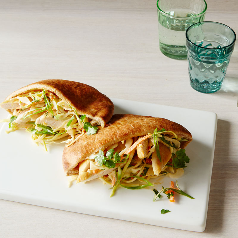 Photo of Asian chicken pita pockets with Sriracha slaw by WW