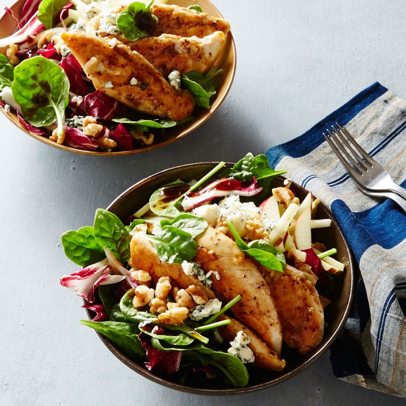 Photo of Spinach Salad with Chicken, Apple, Blue Cheese, and Balsamic by WW