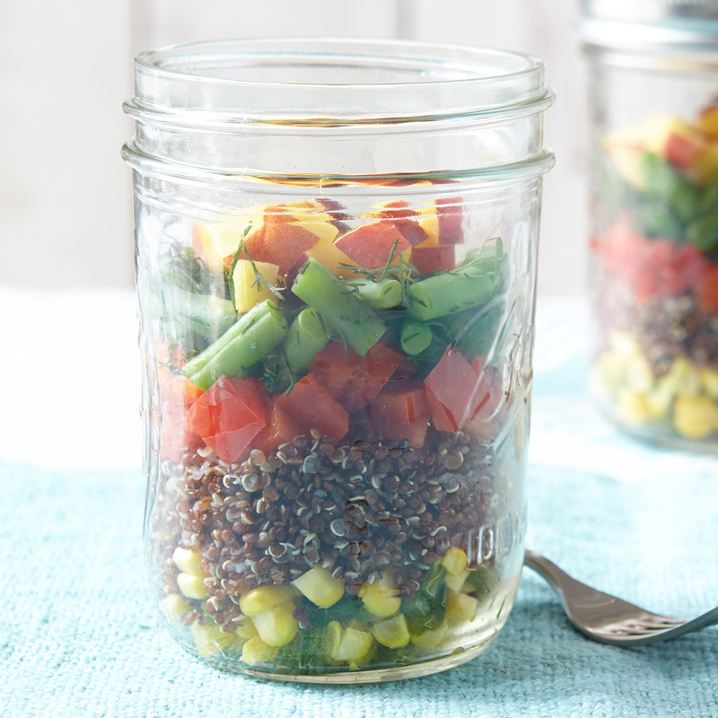 Photo of Layered mason jar quinoa and veggie salad by WW
