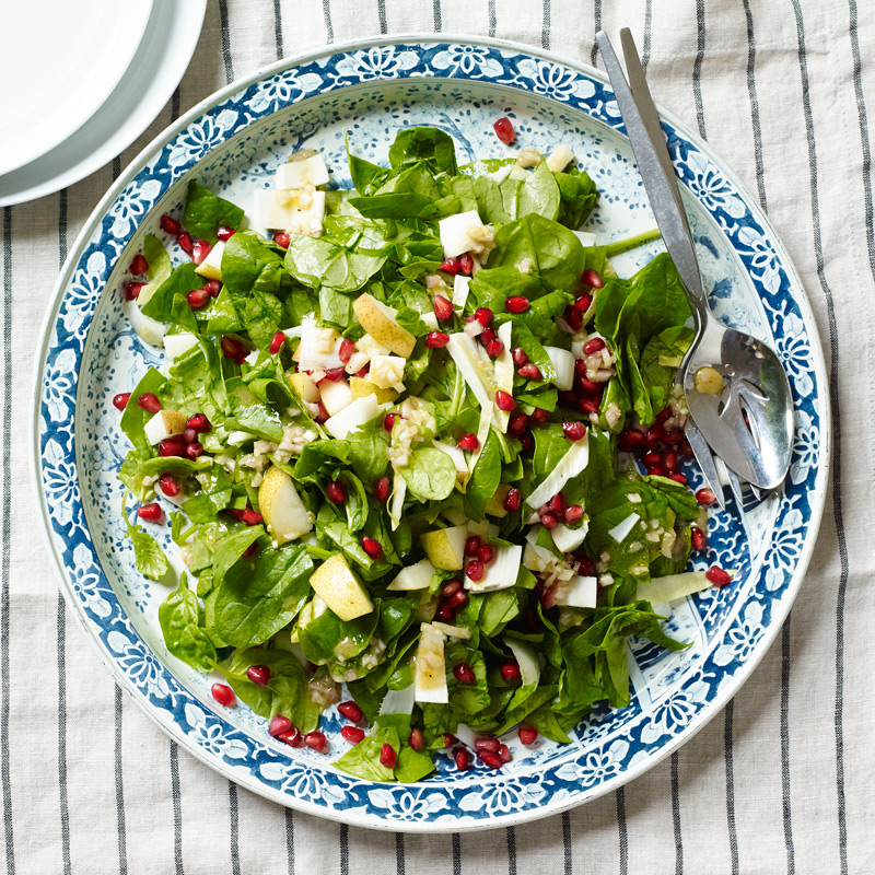 Photo of Chopped spinach and pear salad with sherry vinaigrette by WW