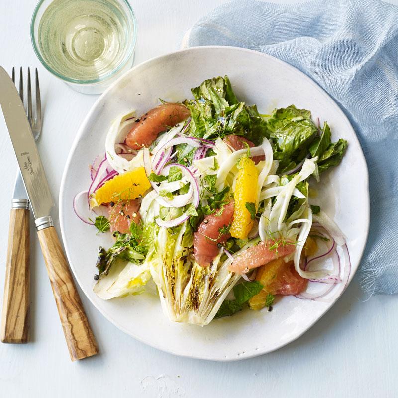 Grilled Escarole Salad With Citrus Recipes Ww Usa