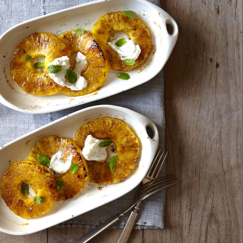 Photo of Broiled pineapple with candied ginger yogurt cream by WW