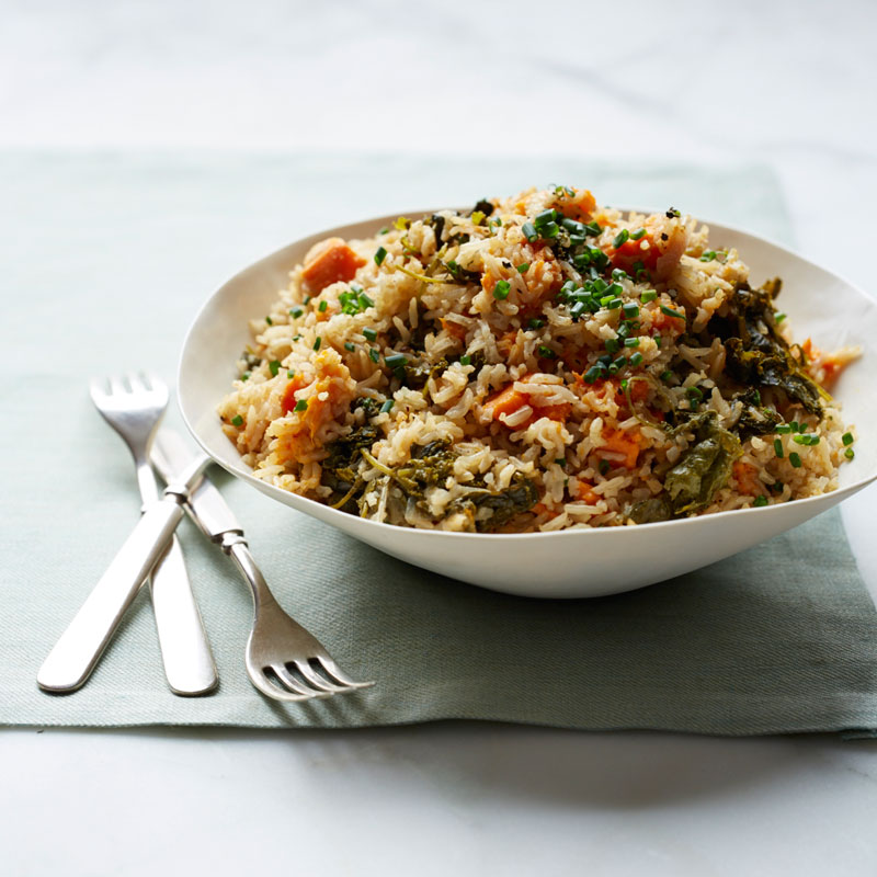 Photo of Brown Rice, Kale and Sweet Potato Pilaf by WW