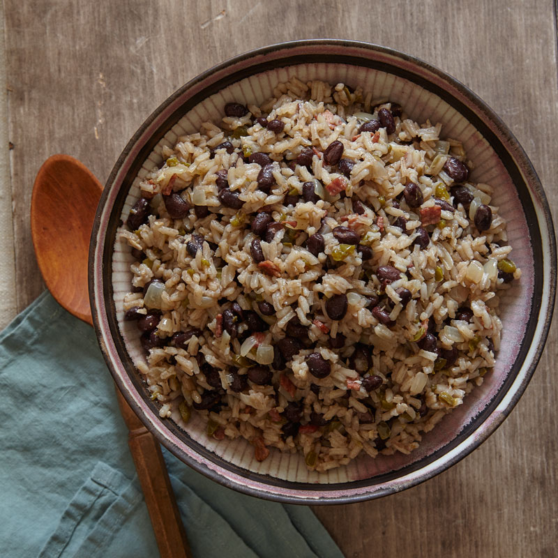 Photo of Cuban rice and black beans by WW
