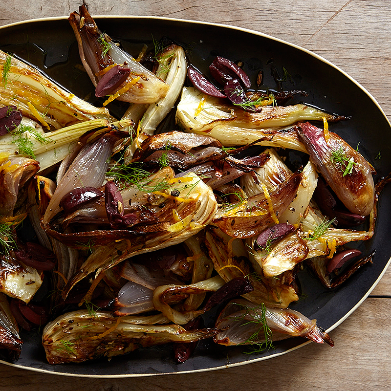 Roasted Fennel And Shallots With Balsamic Vinegar And Kalamata Olives Recipes Ww Usa