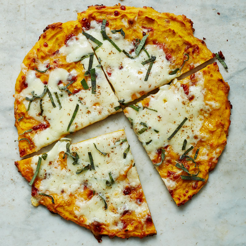 Photo of Butternut squash-crust pizza with Fontina and sage by WW