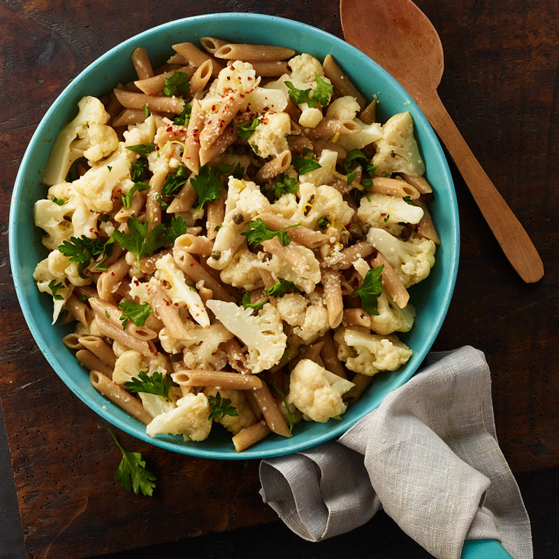 Photo of One-pot pasta with cauliflower, lemon, and capers by WW