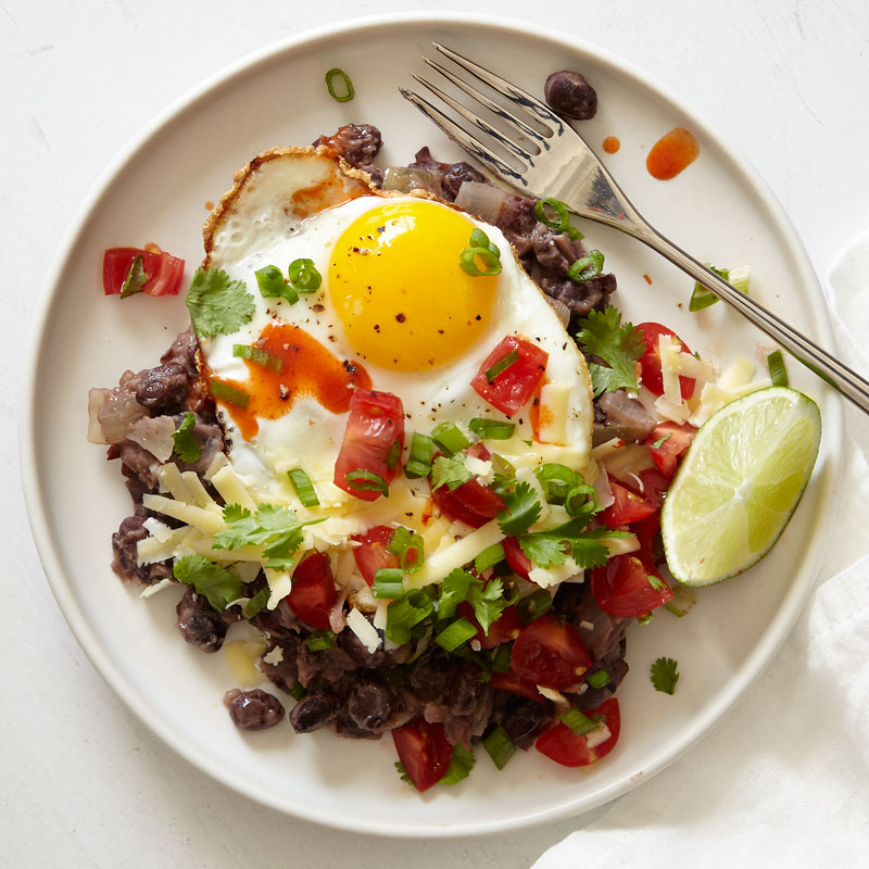Photo of Southwest-Inspired Black Beans and Eggs by WW