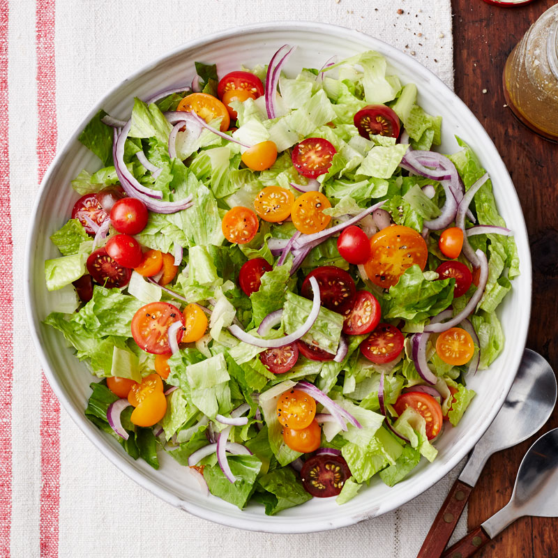 Tossed salad with classic Italian dressing