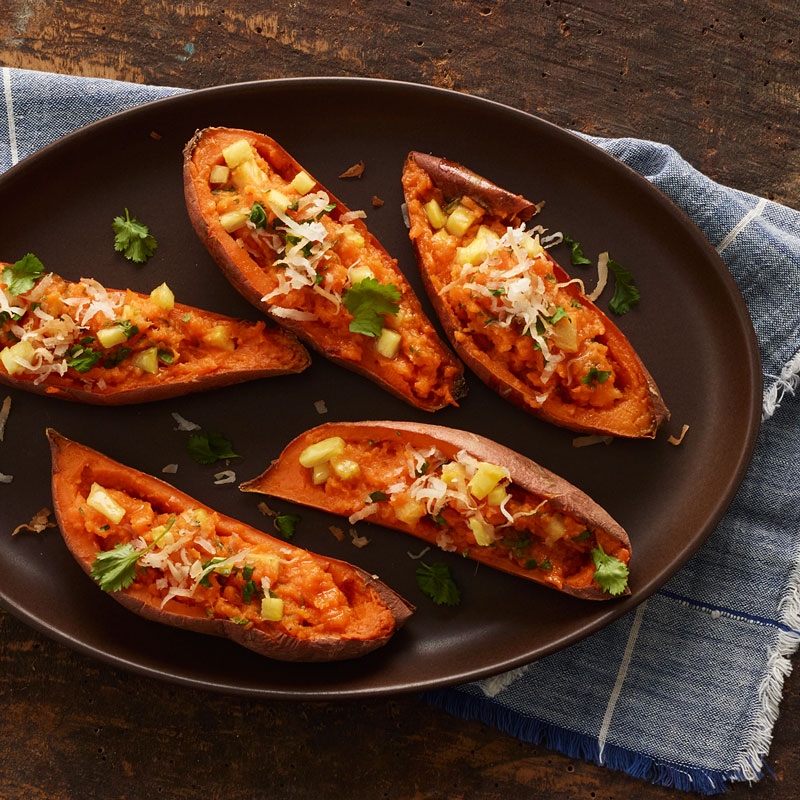 Photo of Tropical-Stuffed Sweet Potatoes with Toasted Coconut by WW