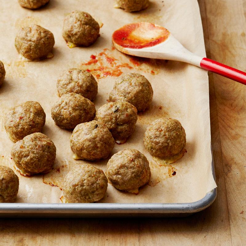 Photo of Turkey-pesto meatballs by WW