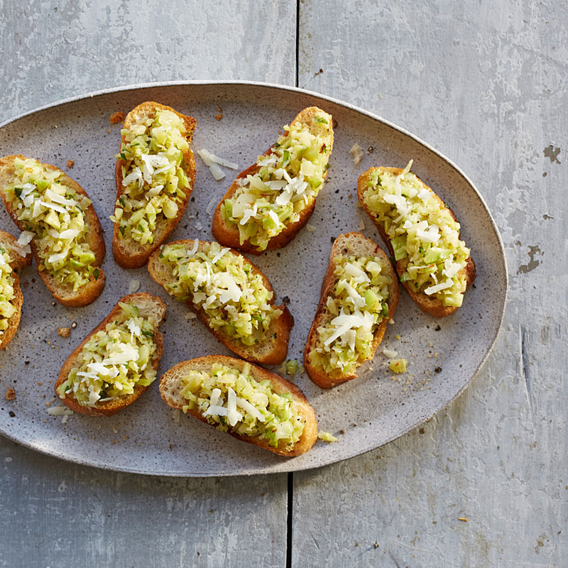 Photo of Broccoli stalk and pecorino crostini by WW
