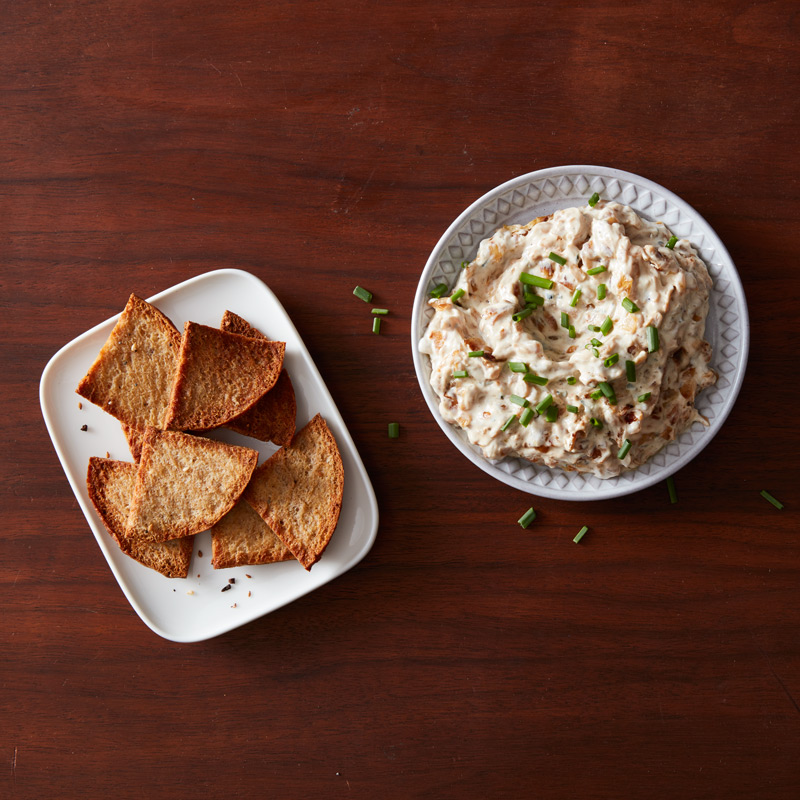 Photo of Caramelized Onion Dip with Pita Chips by WW
