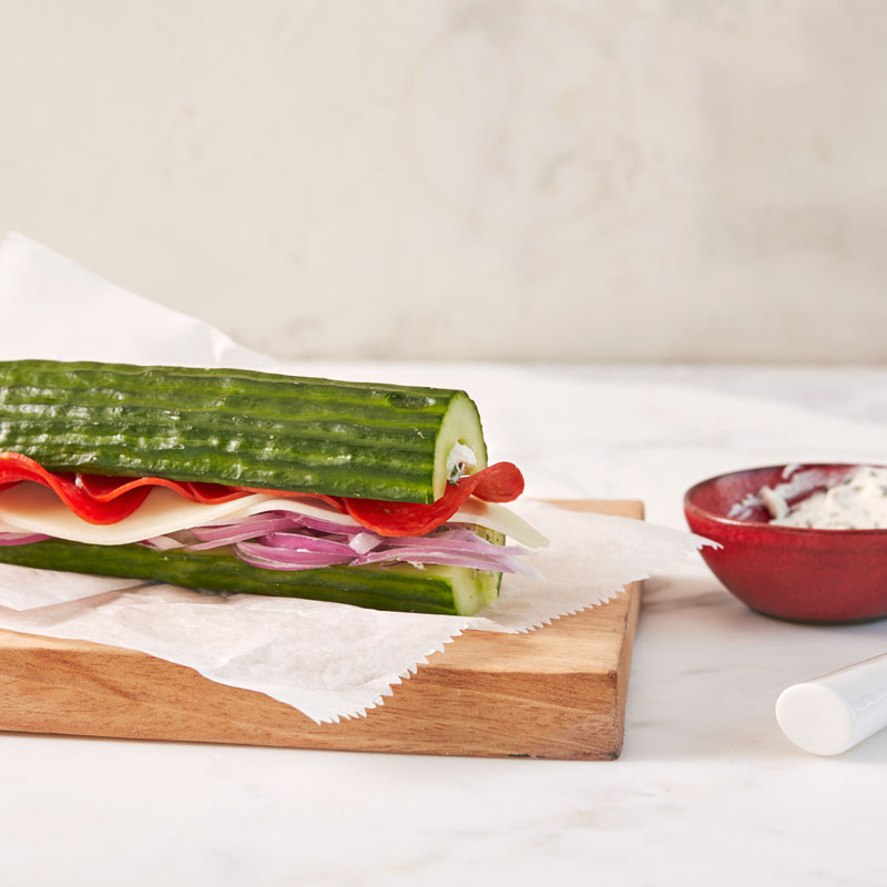 Photo of Italian cucumber subs by WW