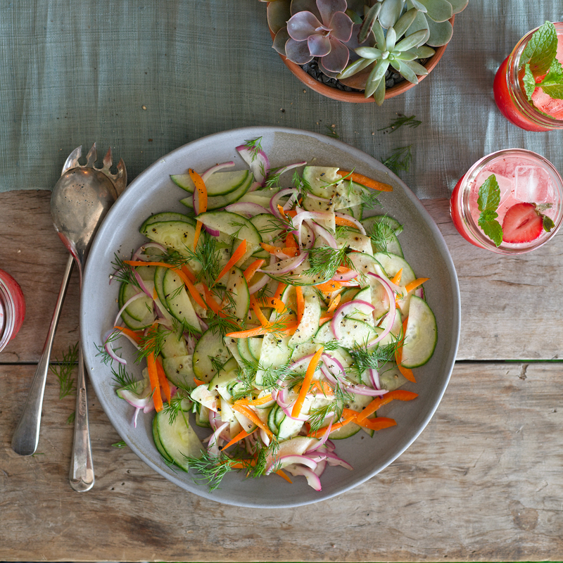 Photo of Cucumber salad with quick pickled onion by WW
