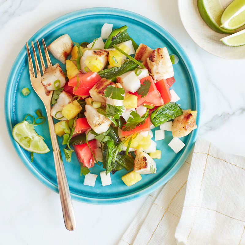 Photo of Mexican grilled scallop chopped salad by WW